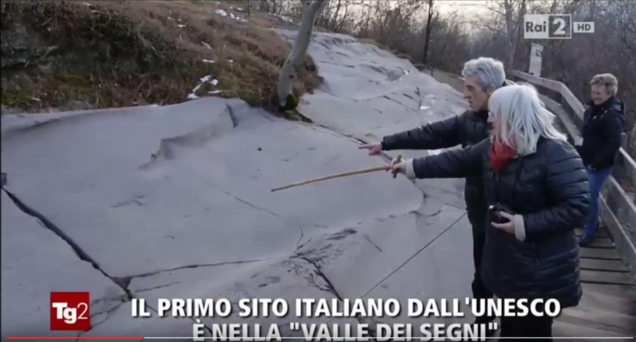 """TG2 – Il primo sito italiano dell'Unesco è nella """"Valle dei Segni"""""""